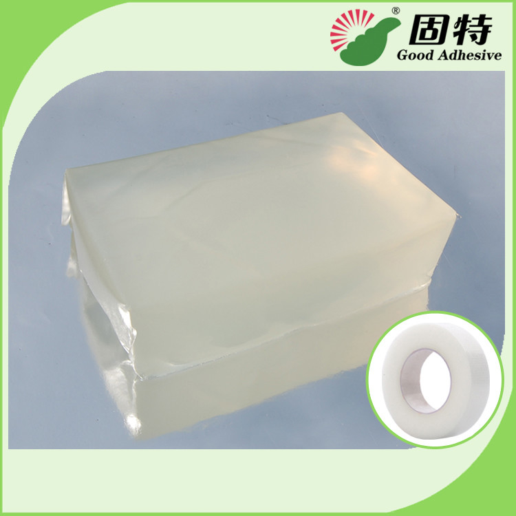 Colorless transparent Block Pressure Sensitive Hot Melt Glue , Colorless Transparent Medical Tape Adhesive Hot Melt